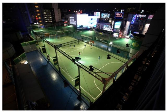 渋谷のフットサルコート